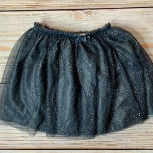 Zara black tulle skirt with gold dots size 9/10